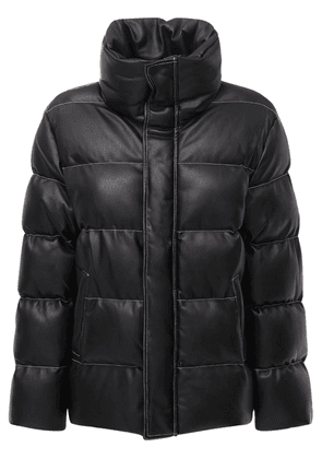 Ace Faux Leather Puffer Jacket