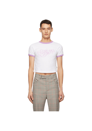 Marc Jacobs White and Purple Heaven by Marc Jacobs Bubble Logo Baby T-Shirt