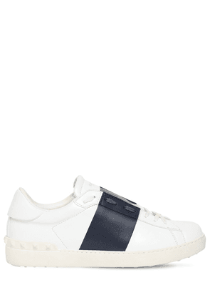 Open Color Block Leather Sneakers