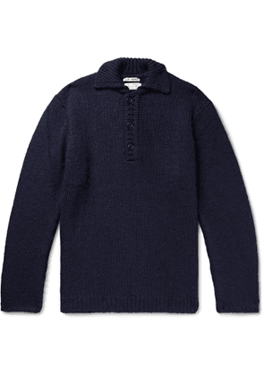 Our Legacy - Brushed Knitted Half-Placket Sweater - Men - Blue