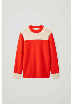COLOUR BLOCK HEAVY GAUGE KNITTED JUMPER