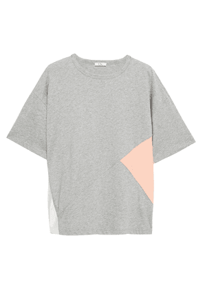 Clu Color-block Cotton-jersey And Woven T-shirt Woman Stone Size XS