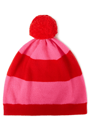 Chinti & Parker Striped Wool And Cashmere-blend Beanie Woman Red Size ONESIZE