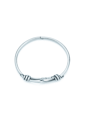 Paloma Picasso® Knot hinged bangle in sterling silver, large