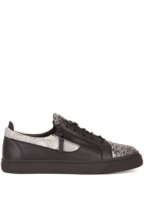 Giuseppe Zanotti snakeskin-effect low-top sneakers - Metallic