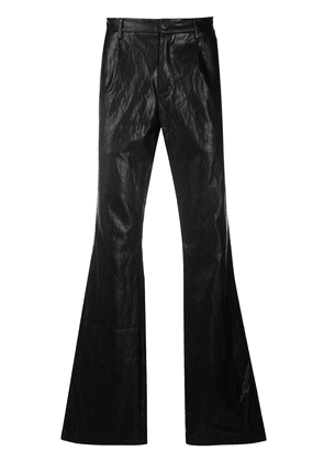 MISBHV leather-effect wide leg trousers - Black
