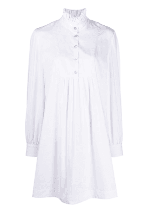 Alexa Chung long-sleeve flared shirt dress - White