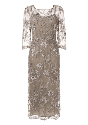 Antonio Marras embroidered cocktail dress - Brown
