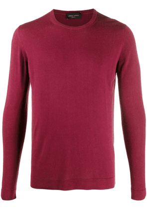 Roberto Collina long sleeve ribbed knit sweater - Red
