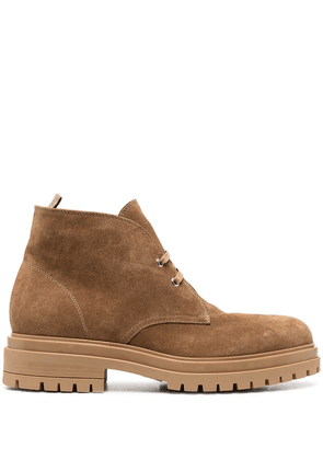 Gianvito Rossi lace-up suede desert boots - Brown