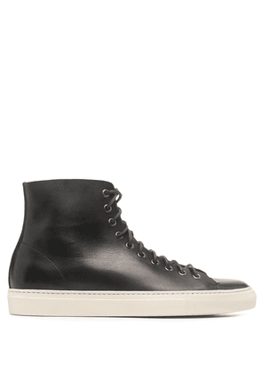 Buttero Tanino leather high-top sneakers - Black