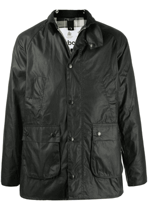 Barbour waxed single-breasted jacket - Green