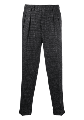 Pt01 cropped houndstooth trousers - Blue