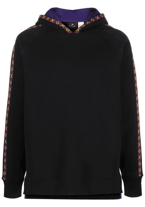 PS Paul Smith geometric tape cotton hoodie - Black