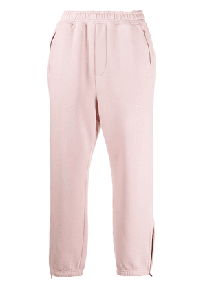 We11done logo-print straight-leg track pants - PINK