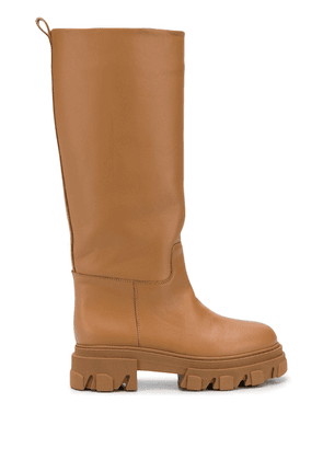 Gia Couture knee-length slip on boots - Brown