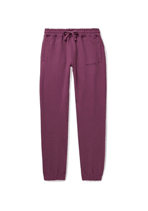 Aimé Leon Dore - Tapered Logo-Embroidered Loopback Cotton-Jersey Sweatpants - Men - Purple