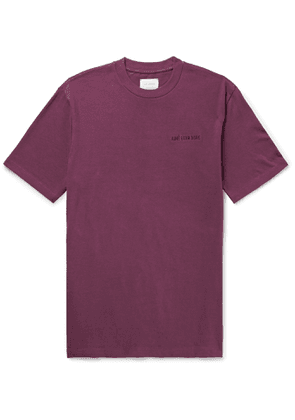 Aimé Leon Dore - Logo-Embroidered Cotton-Jersey T-Shirt - Men - Purple