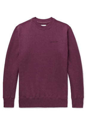 Aimé Leon Dore - Logo-Embroidered Mélange Loopback Cotton-Jersey Sweatshirt - Men - Purple