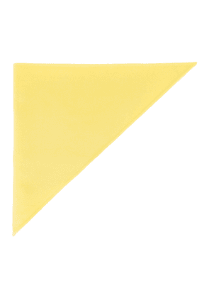 Marc Jacobs Yellow Cashmere Triangle Head Scarf