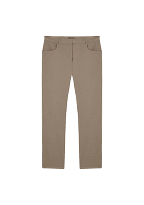 Taupe 5 Pocket Jean Trousers