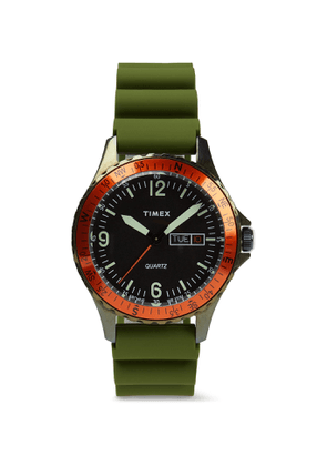 Timex - Archive Navi Land Stainless Steel and Silicone Watch - Men - Black