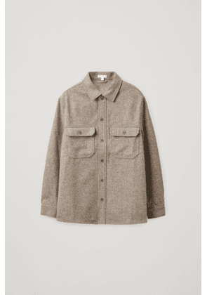 RELAXED WOOL MIX OVERSHIRT