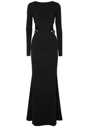 Haney Embellished Cutout Stretch-cady Gown Woman Black Size 8