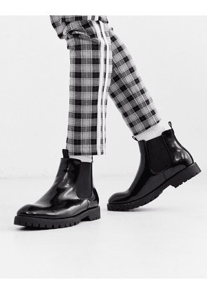 Truffle Collection chunky chelsea boot in black