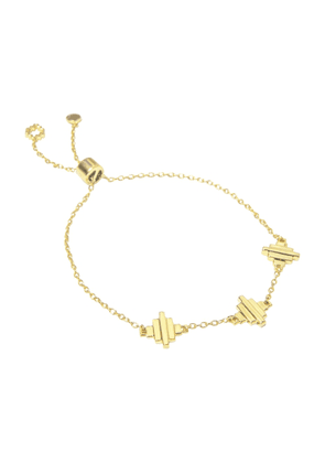 Jewel Tree London Baori Trinity Bracelet - 18ct Gold Vermeil