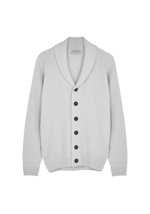 John Smedley Crestwood Light Grey Wool-blend Cardigan