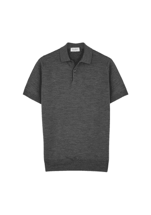 John Smedley Payton Dark Grey Wool Polo Shirt