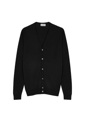 John Smedley Petworth Black Wool Cardigan
