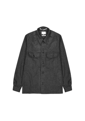 Norse Projects Kyle Charcoal Wool-blend Overshirt
