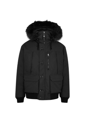 Polo Ralph Lauren RLX Alistair Faux Fur-trimmed Shell Bomber Jacket