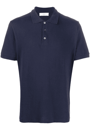 Pringle of Scotland short-sleeve fitted polo shirt - Blue