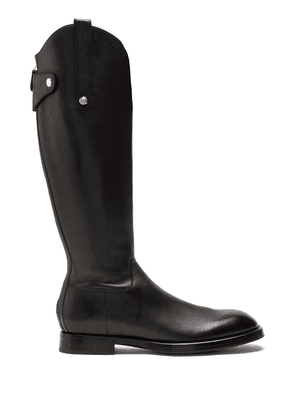 Dolce & Gabbana leather riding boots - Black
