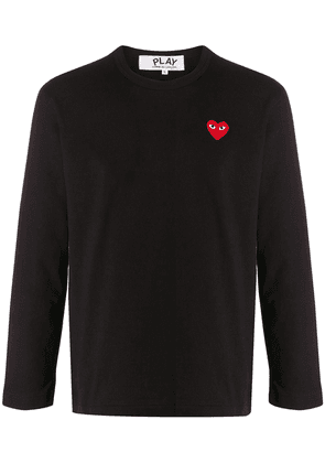 Comme Des Garçons Play embroidered heart T-shirt - Black