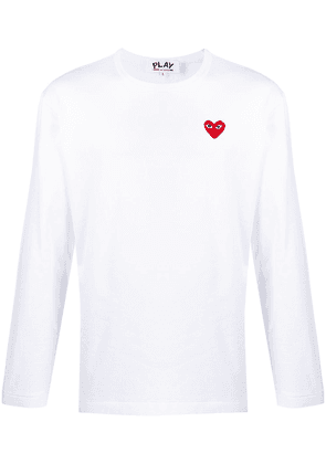 Comme Des Garçons Play long sleeved sweatshirt - White