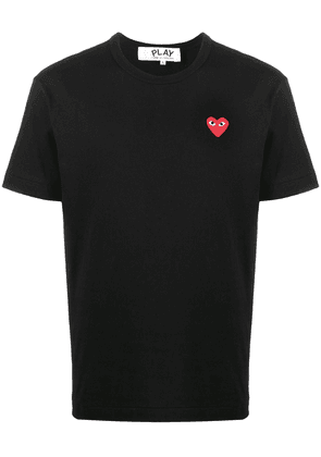 Comme Des Garçons Play embroidered logo cotton T-shirt - Black