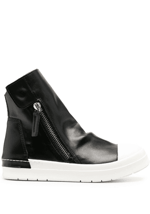 Cinzia Araia slouch leather high-top sneakers - Black