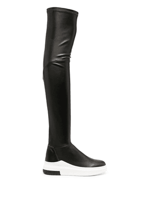 Cinzia Araia thigh-high leather boots - Black