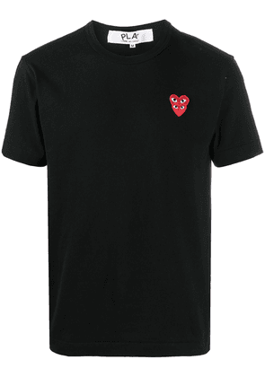 Comme Des Garçons Play heart-embroidered crew-neck T-shirt - Black