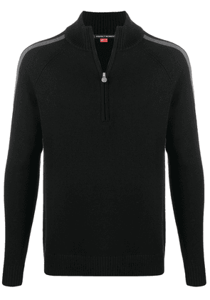 Perfect Moment side-stripe knitted jumper - Black