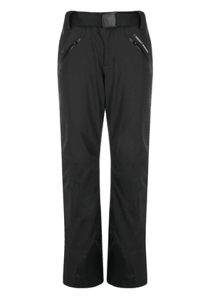 Perfect Moment star-print buckle-fastening trousers - Black
