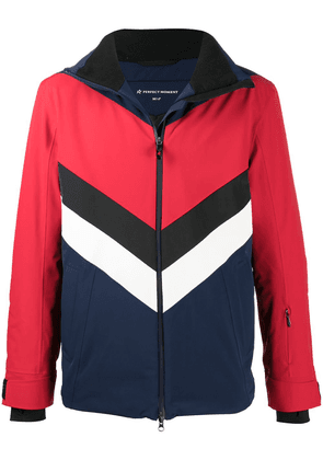 Perfect Moment colour-block panelled hooded jacket - Red