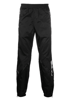 Enfants Riches Déprimés chevron effect nylon trackpants - Black