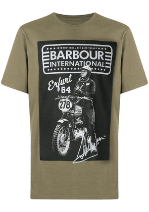 Barbour graphic-print cotton T-shirt - Green