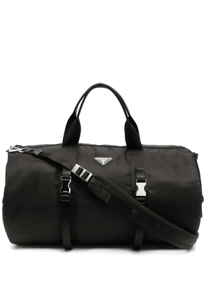 Prada triangle logo duffle bag - Black