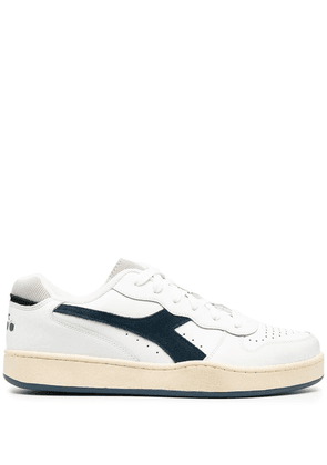 Diadora Mi Basket Low Used leather sneakers - White